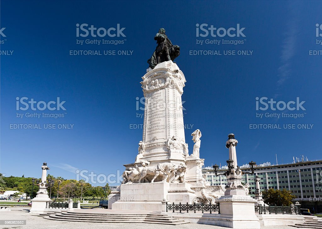 Lisbon Marquis of Pombal royalty-free stock photo