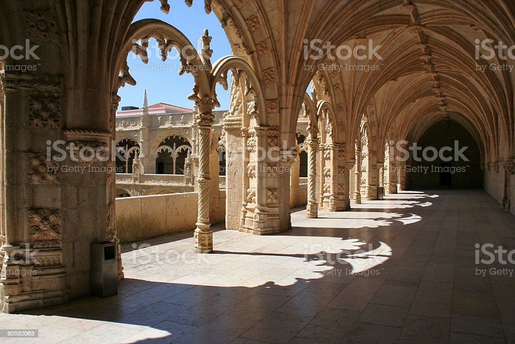 Lisbon Monastery stock photo