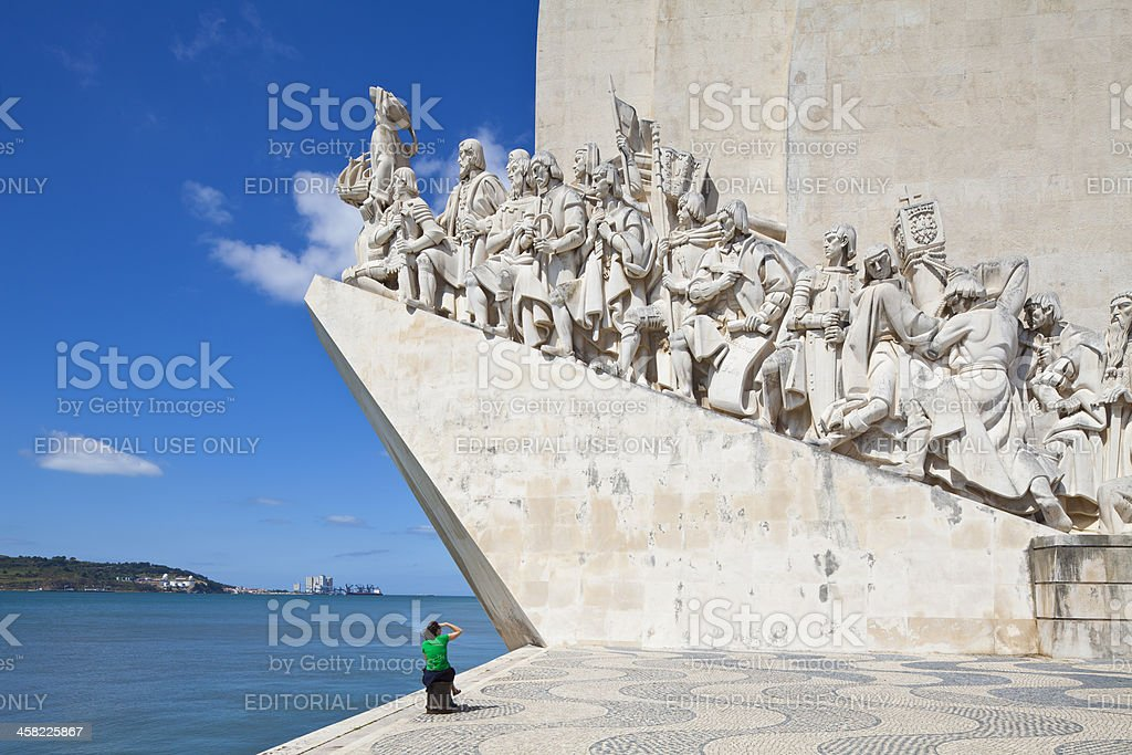 Lisbon, Monument of the Discoveries stock photo