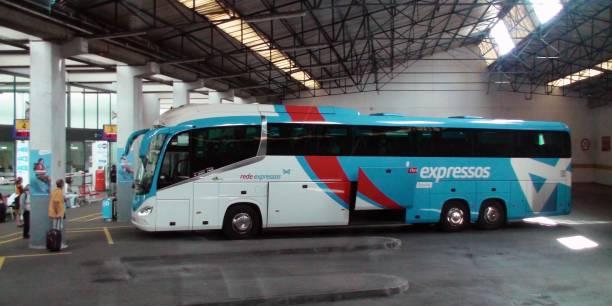 lisbon oriente bus station, bus, people scene in portugal europe - resultados lisboa imagens e fotografias de stock