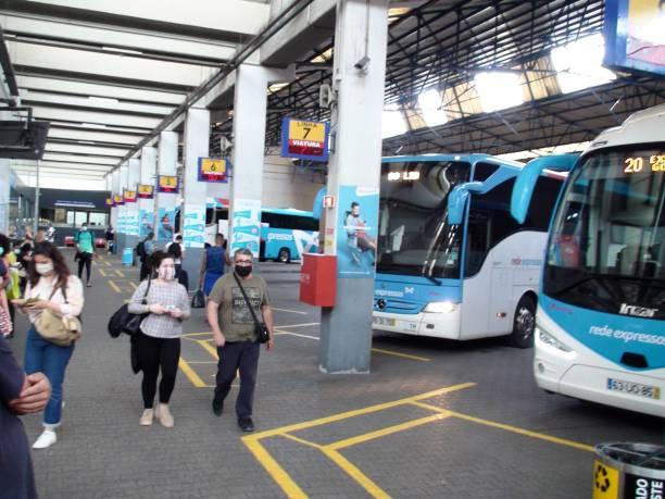 lisbon oriente bus station in portugal europe, people, bus scene - resultados lisboa imagens e fotografias de stock