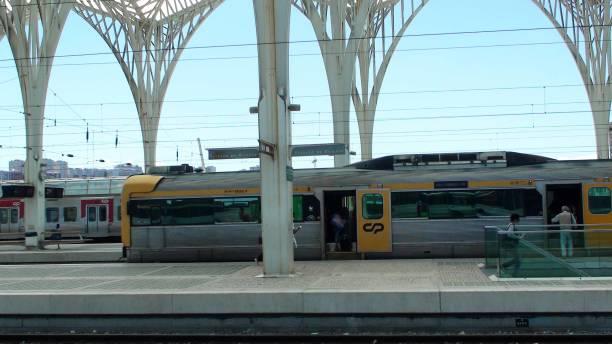 lisbon oriente train station, portugal, europe, people scene - resultados lisboa imagens e fotografias de stock