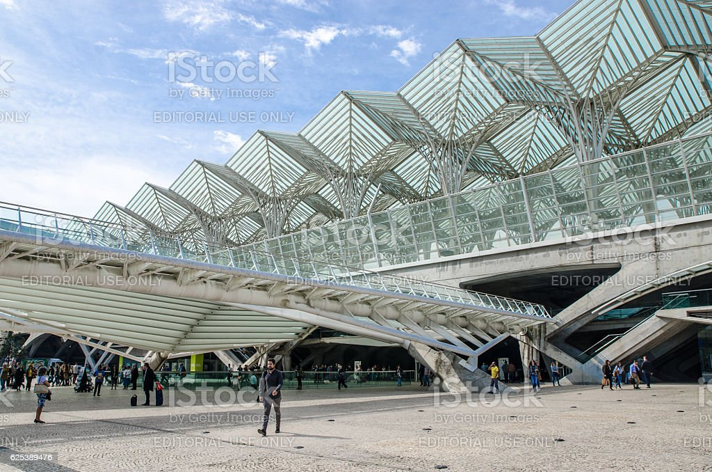 Lisbon Oriente Train Terminal at Park of nations stock photo