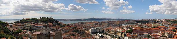 panorama von lissabon - gblu stock-fotos und bilder