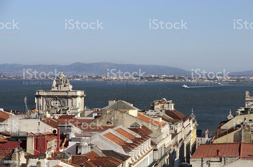 Lisbon panorama, Portugal royalty-free stock photo