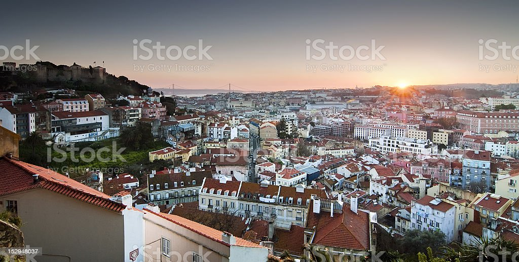 Lisbon panoramic stock photo