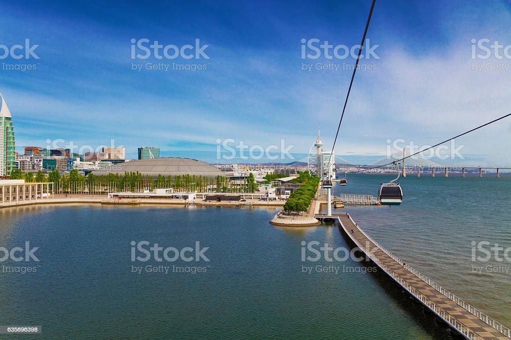 Lisbon Parque das Nacoes stock photo