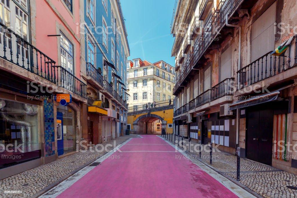 Lisbon. Pink street