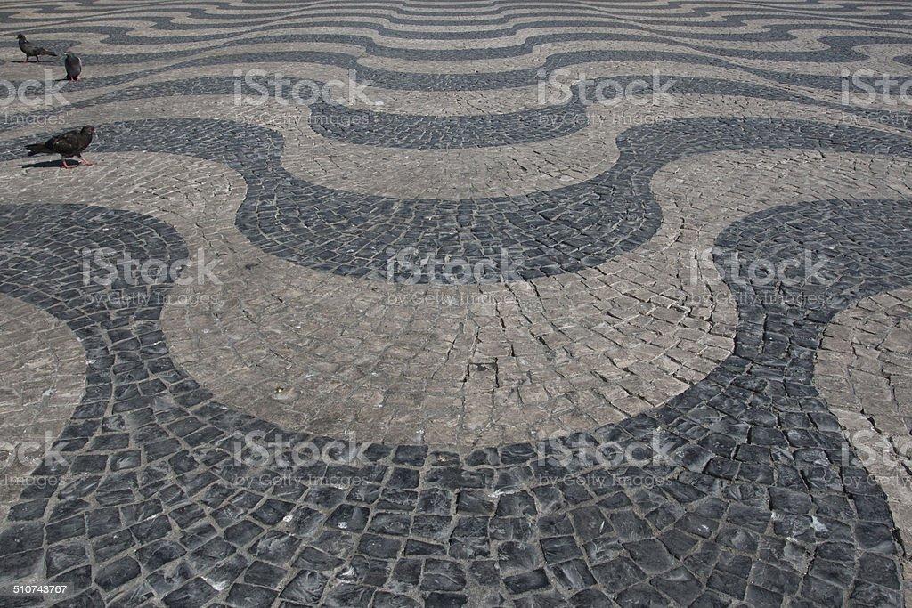 Lissabon Portugal Abstrakt Fliesen Boden Muster Als Hintergrund