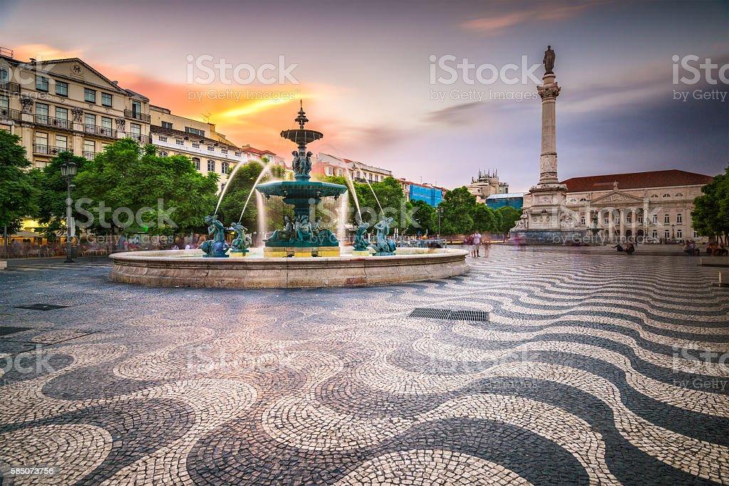 Lisbon, Portugal City Square stock photo