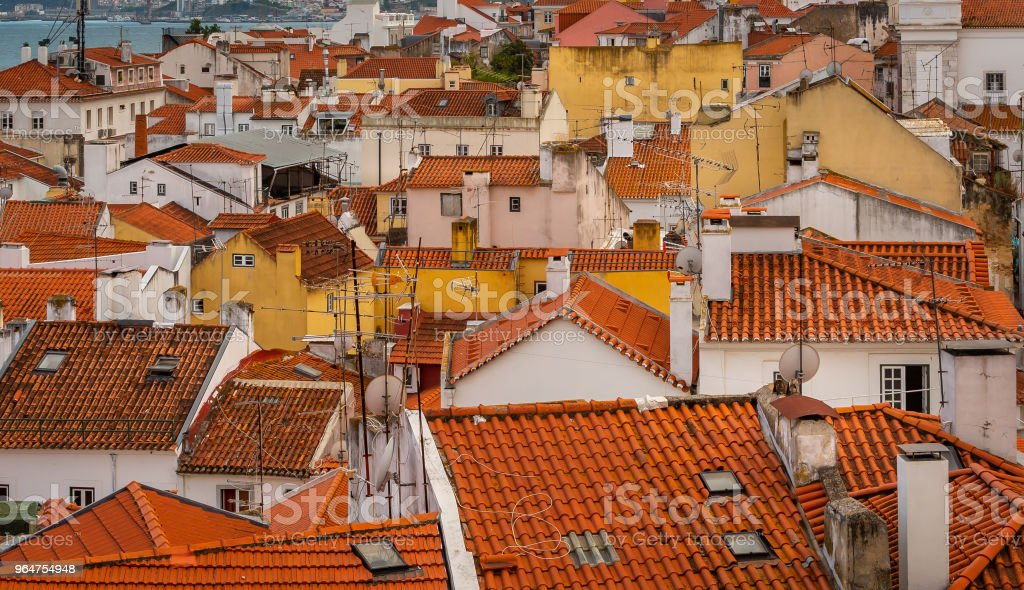 Lisbon, Portugal cityscape at the Alfama District. royalty-free stock photo