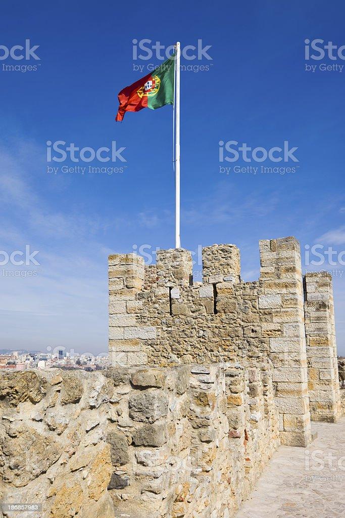 Bandeira de Lisboa, Portugal, - fotografia de stock