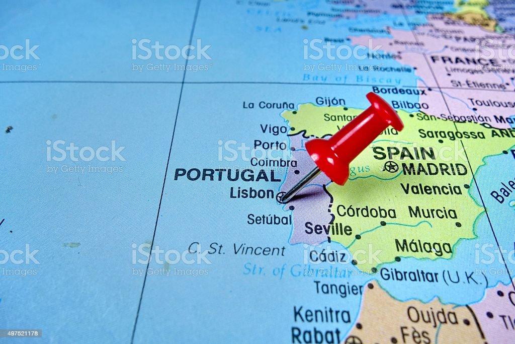 lisboa portugal mapa Mapa De Portugal   Stock Photos e Imagens   iStock lisboa portugal mapa