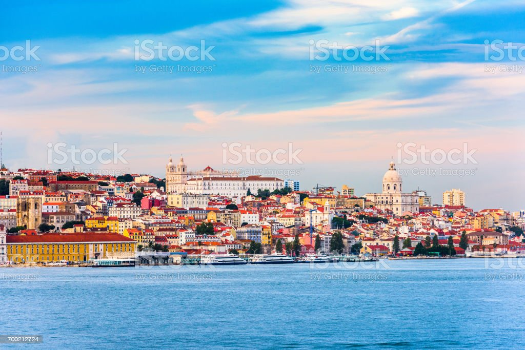 Lisbon, Portugal on the River stock photo