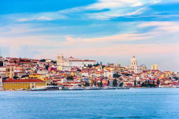 lisbon, portugal on the river - lisbona foto e immagini stock