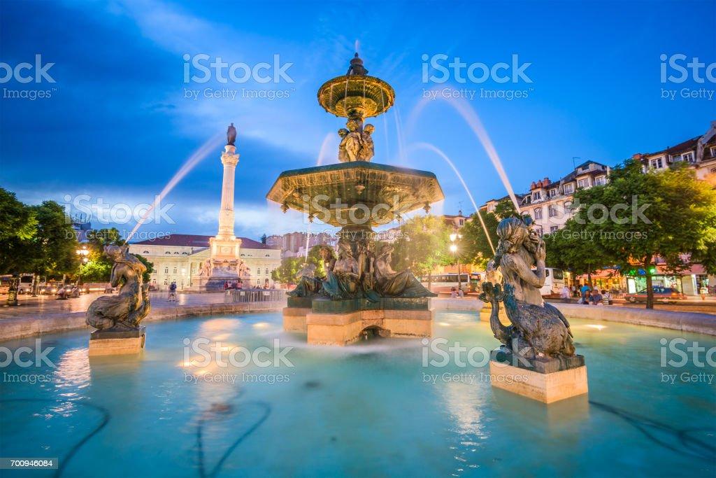 Lisbon, Portugal Rossio Square stock photo