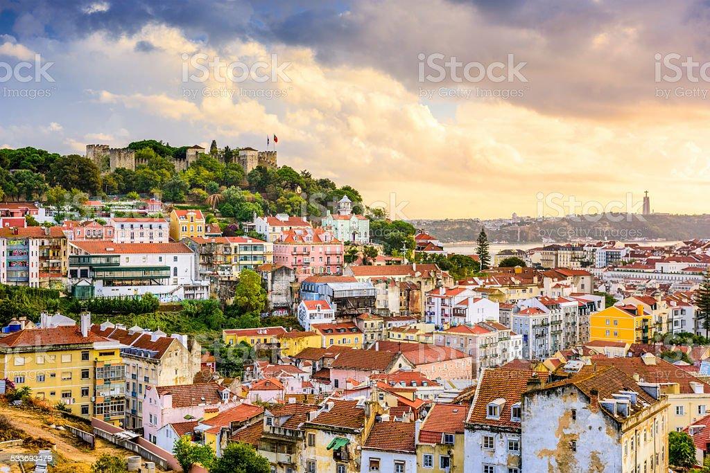 Lisboa, Portugal Cidade e Castelo - foto de acervo