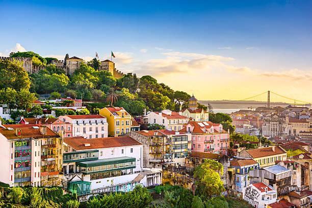 lizbona, portugalia skyline - lizbona zdjęcia i obrazy z banku zdjęć