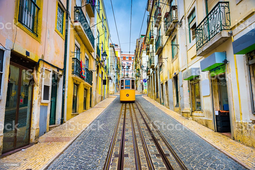 Lisbon Portugal Tram stock photo