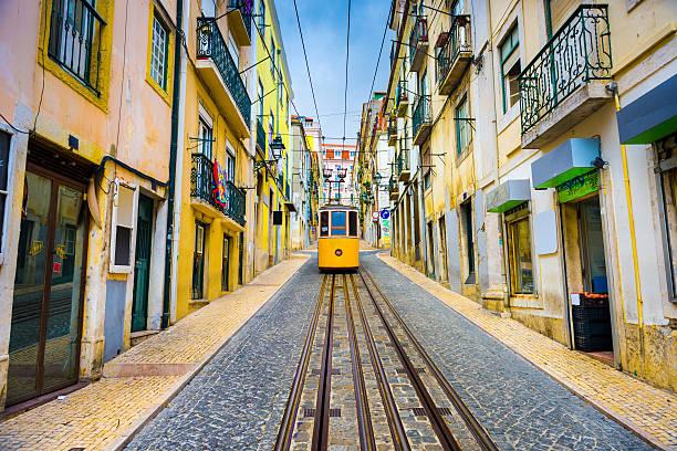lisboa portugal eléctrico - lisboa imagens e fotografias de stock