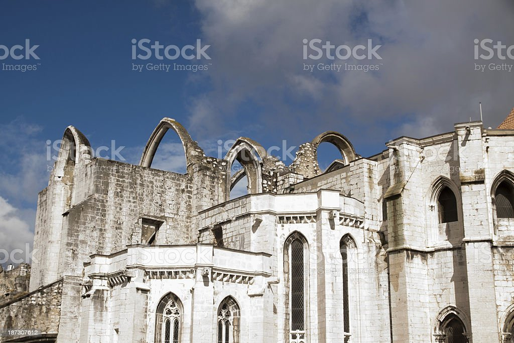Lisbon, Portugal view of Carmo church. royalty-free stock photo