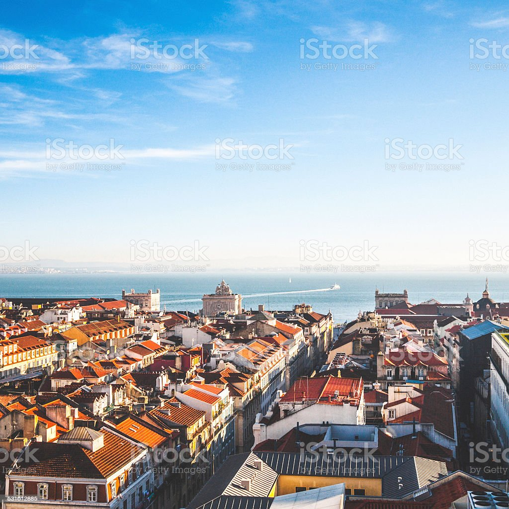 Lisbon Roofs. stock photo