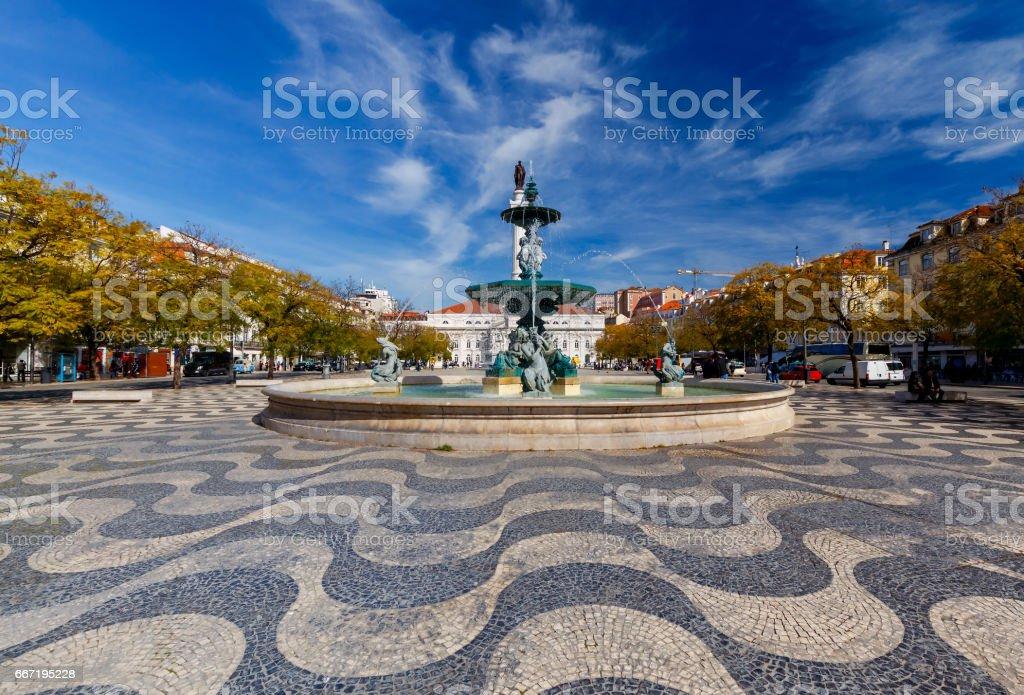 Lisbon. Rossio Square stock photo