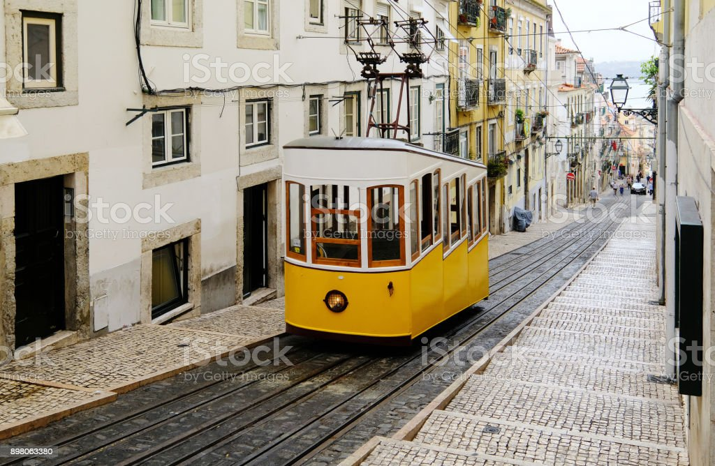 Lisbon Street Car stock photo