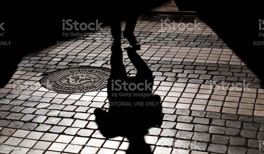 Lisbon Street Pavement stock photo