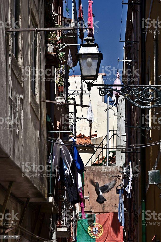 lisbon streets stock photo