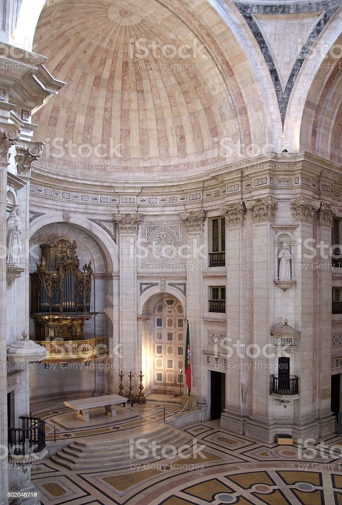 Lisbon - The Pantheon - Church of Santa Engrácia stock photo