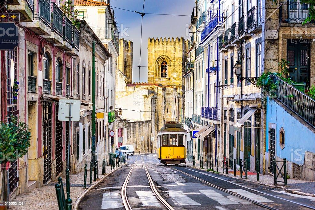 Lisbon Tram and Cityscape