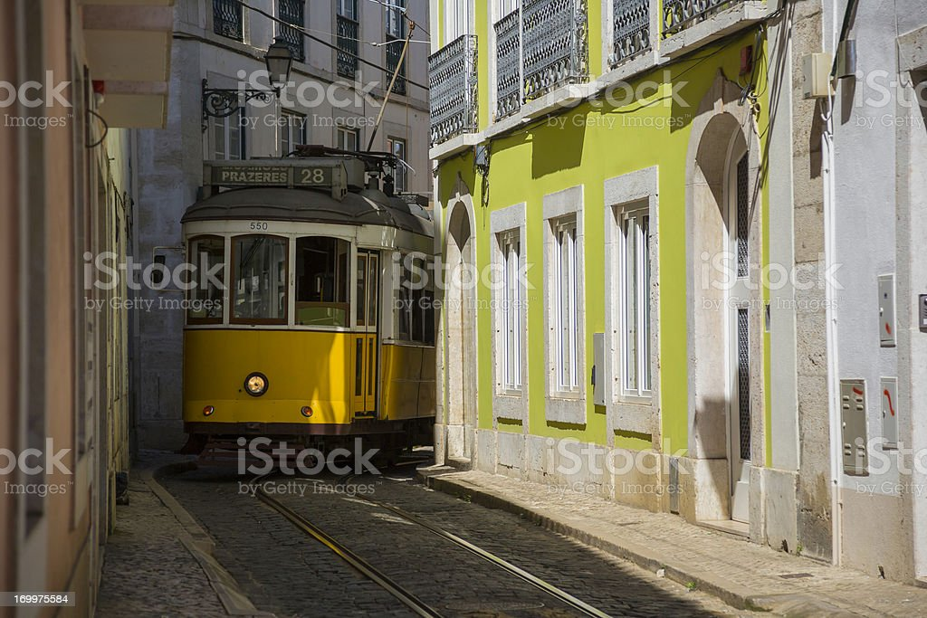 Lisbon tram royalty-free stock photo