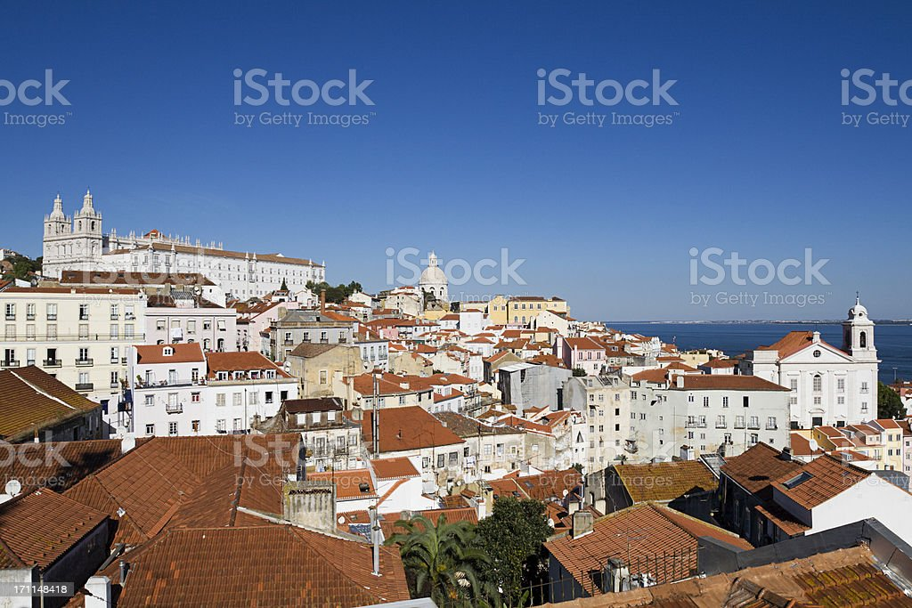Lisbon view to North royalty-free stock photo