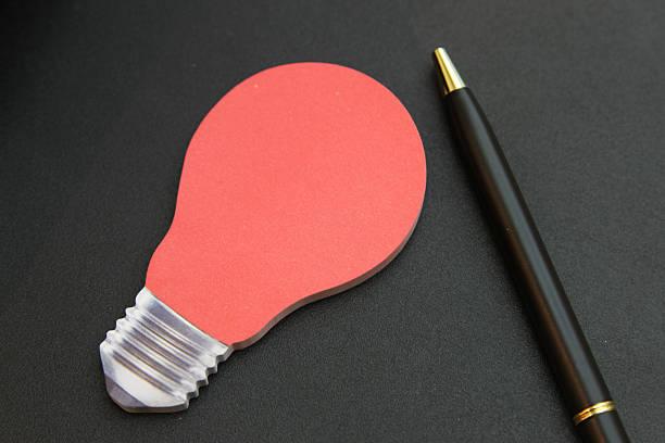 list down your ideas stock photo