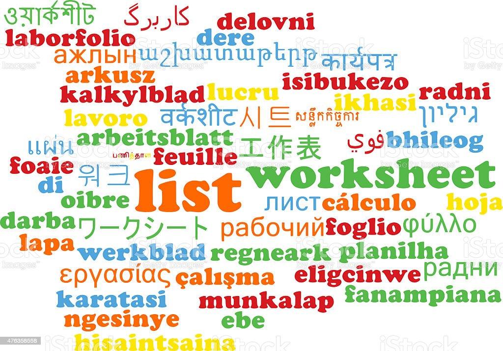 List Multilanguage Wordcloud Background Concept Stock Photo & More ...