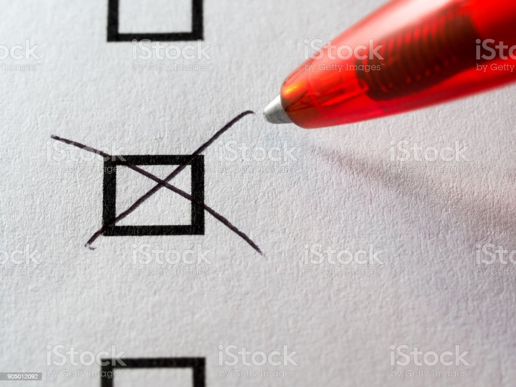 List of checkboxes royalty-free stock photo