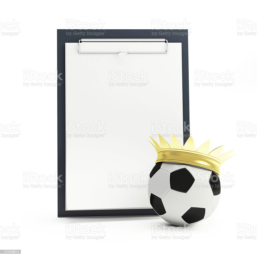 list of football n a white background stock photo