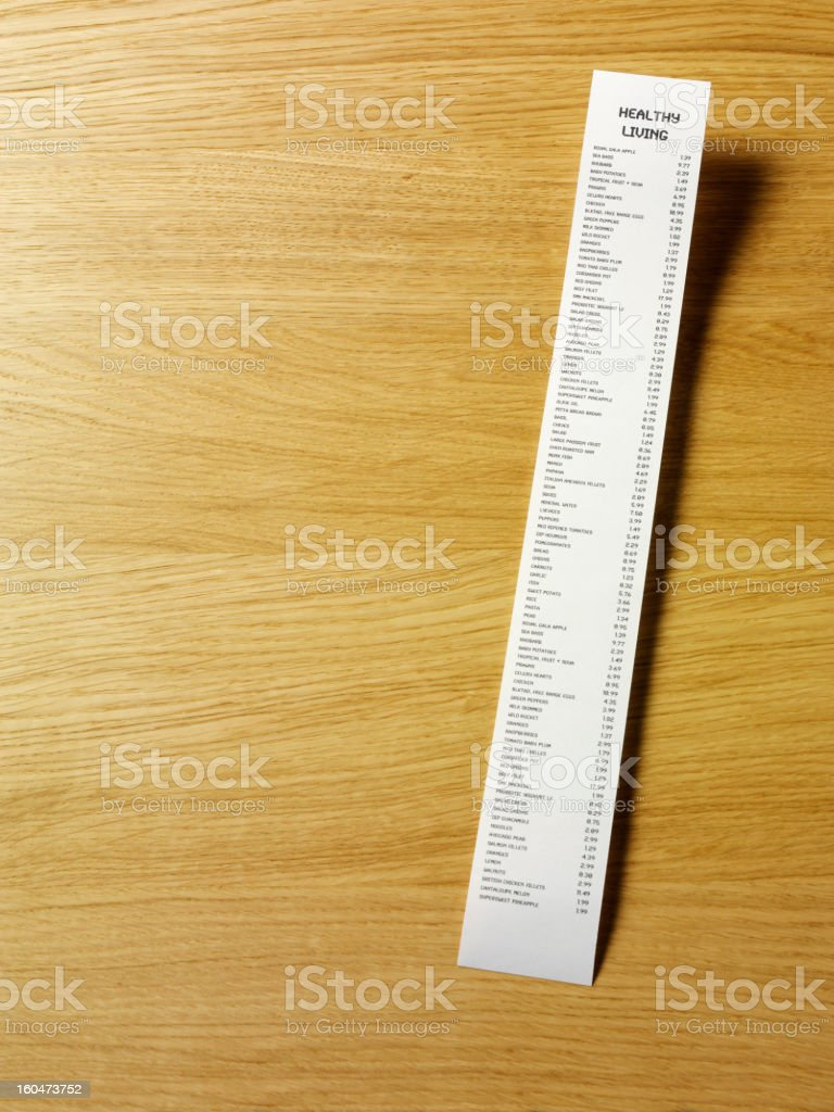 List of Healthy Living stock photo