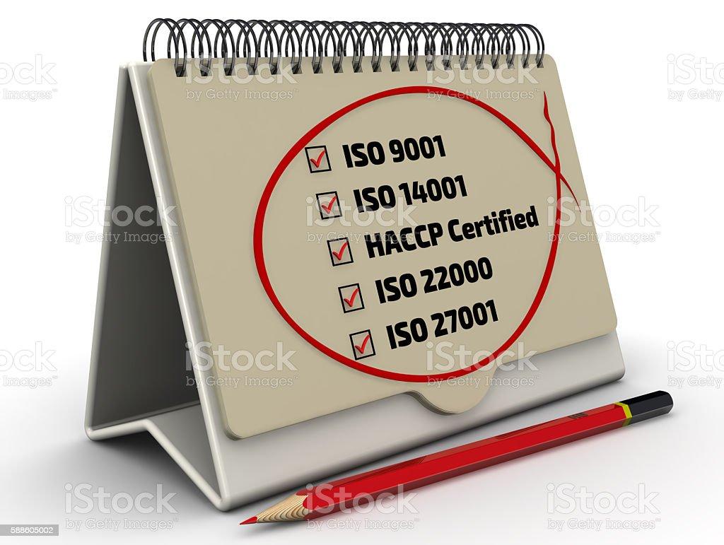 List of ISO standards - iso 9001; iso 14001; haccp; iso 22000; iso...