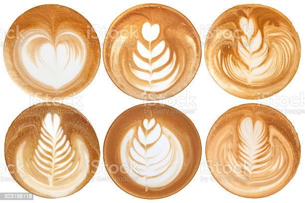 List of latte art shapes on white background isolated picture id523168118?b=1&k=6&m=523168118&s=612x612&h=rpob2uib26ne9ah576zwi7xvbp2oz9rqhw6azcljjts=