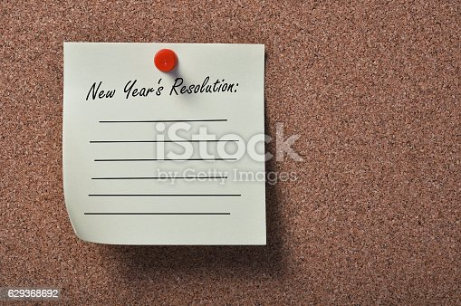 istock List of New Year's Resolutions 629368692