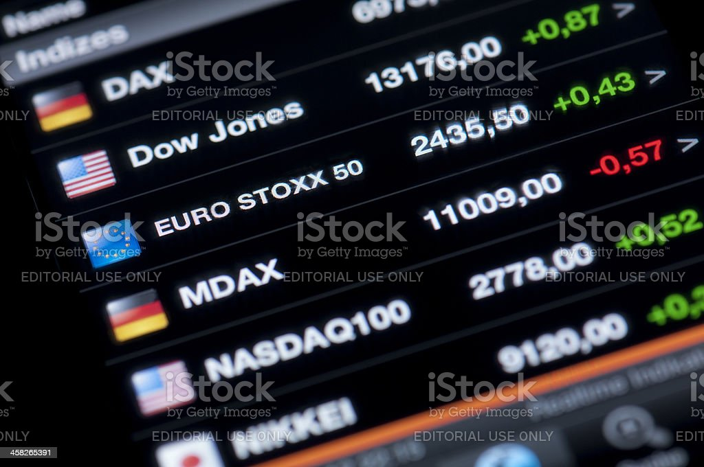 Liste der Börse indices – Foto