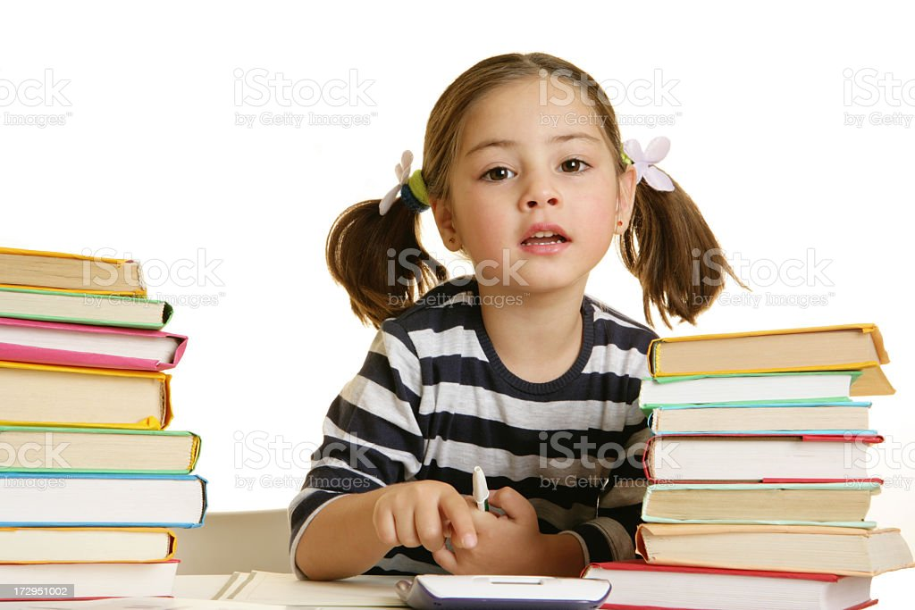 listen a teacher royalty-free stock photo