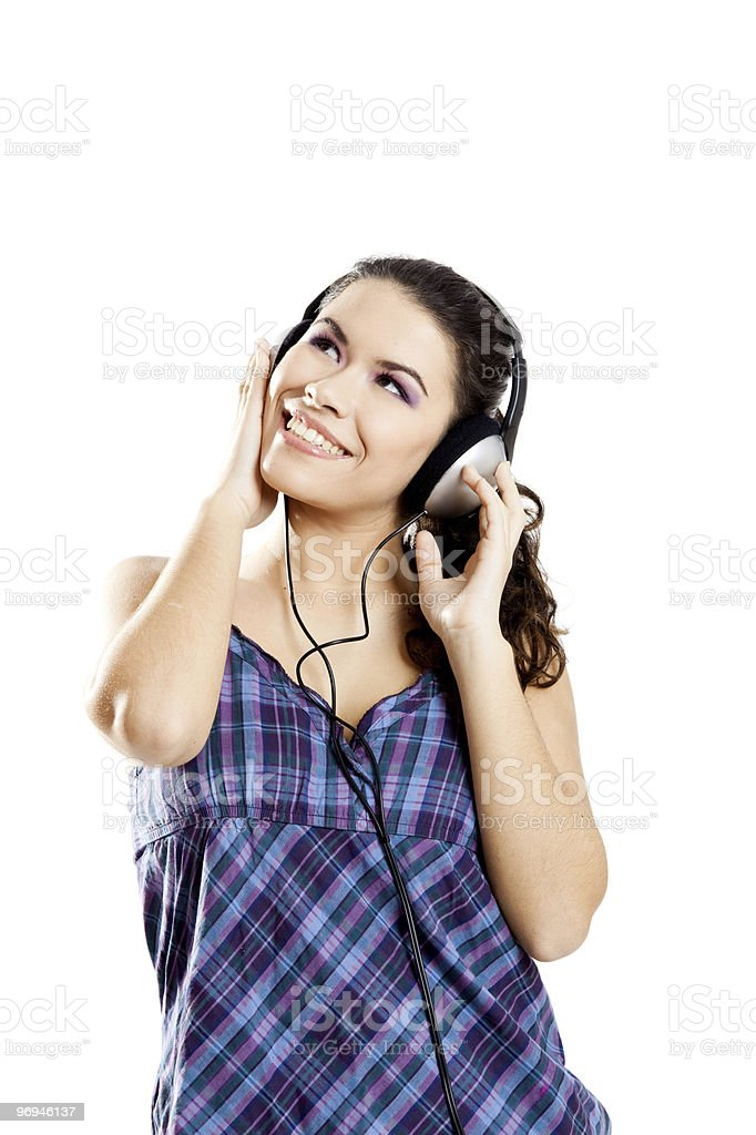 Listen Music royalty-free stock photo
