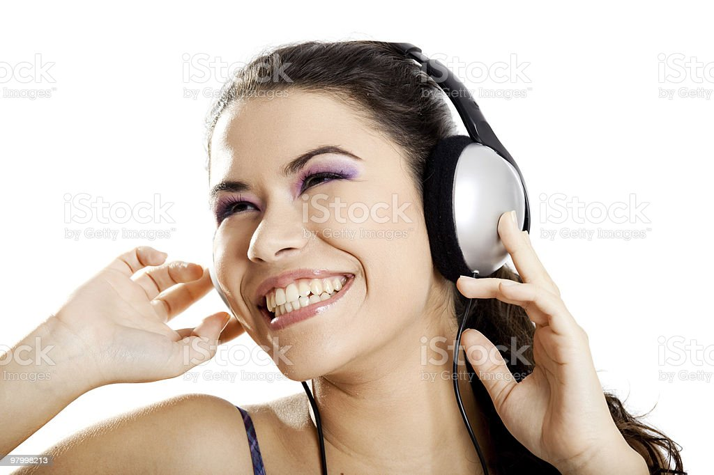 Listen Music royalty-free stock photo