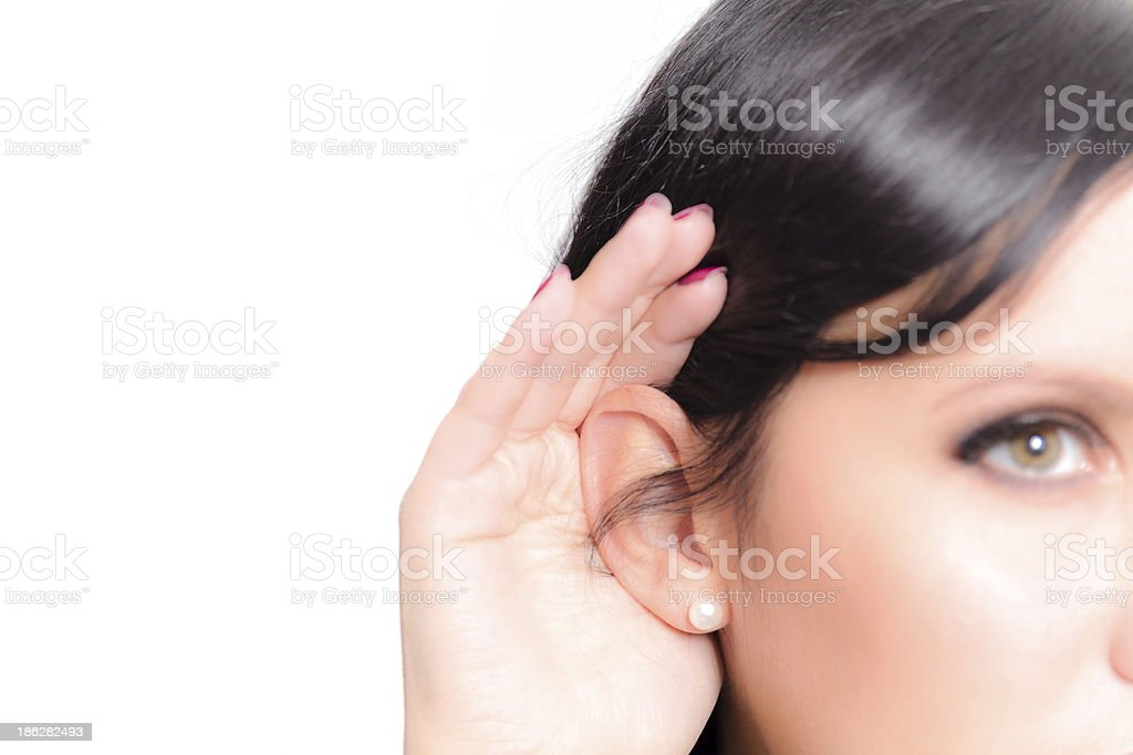Listen royalty-free stock photo
