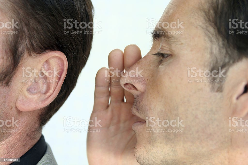 Listen to a secret stock photo