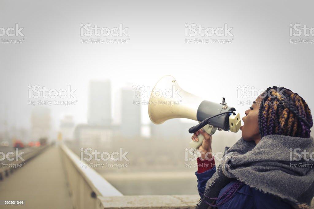 Listen to me stock photo