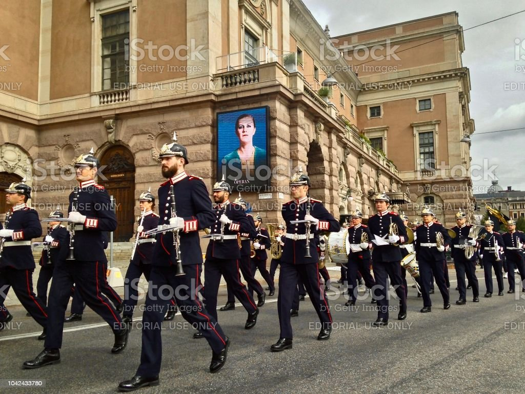 Listen to the Band - Stockholm stock photo